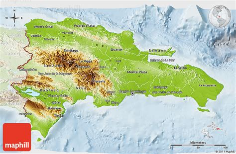 physical map of republic physical 3d map of republic lighten