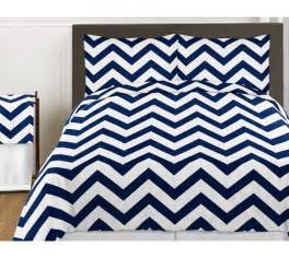 Brand new navy and white chevron collection 4pc twin bedding set