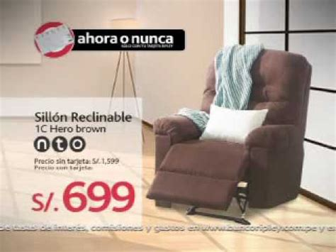 sillon reclinable lima promoci 243 n ripley sill 243 n nto youtube