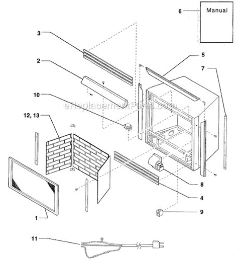 monessen gas fireplace parts monessen dz36nt parts list and diagram ereplacementparts