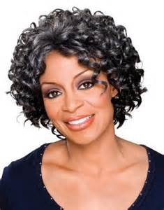 Short curly hairstyles for black women over 50