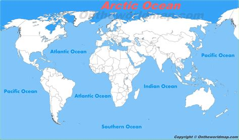 map world oceans arctic location on the world map