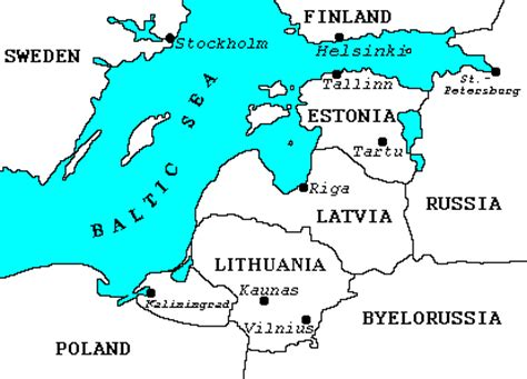 map of estonia and surrounding countries
