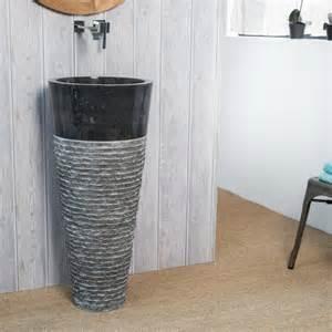 vasque salle de bain sur pied en florence noir