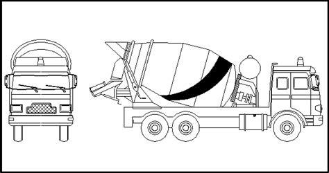 coloring concrete cement truck mixer coloring page design