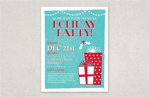 classic holiday party flyer template planning an office