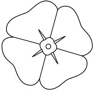 Remembrance Day Poppies Coloring Page sketch template