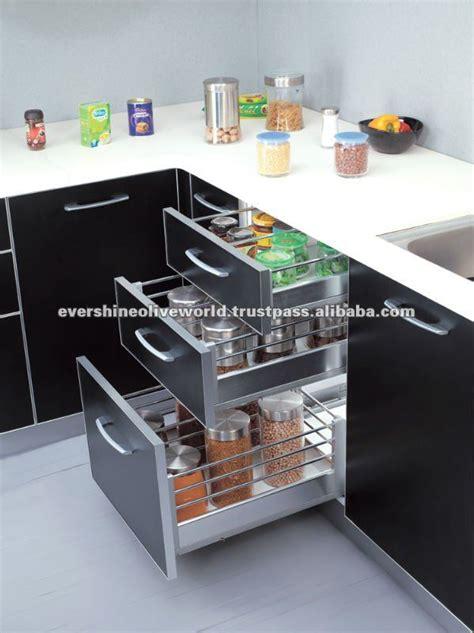 Modular Kitchen Drawers India by Partition Drawer Basket
