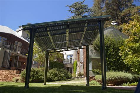 prefab awnings prefab solar awning provides outdoor shade and solar power