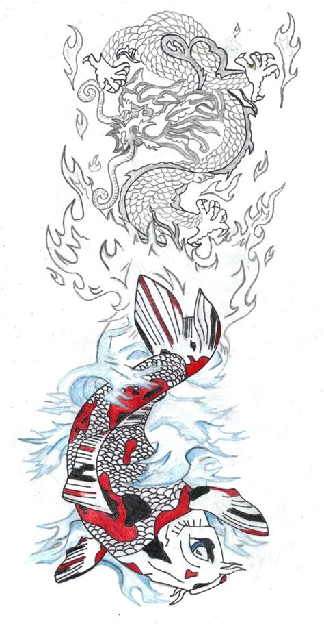 japanese water dragon tattoo designs koi tattoos koi