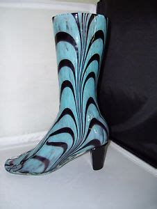 Glass Cowboy Boot Vases by Blue And Black Western Womens Cowboy Glass Boot Vase Decor
