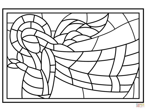 coloring pages christmas stained glass christmas stained glass with angel coloring page free