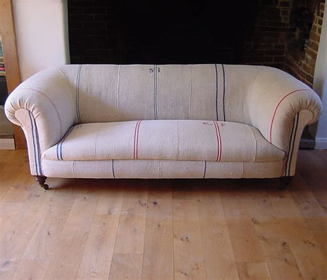 Chesterfield Sofa With Grain Sacks Antique Chairs Sofas