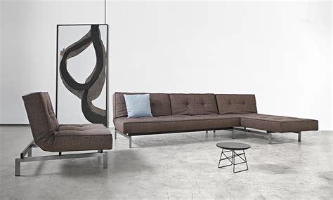ar divani divano letto splitback con materasso a molle in tessuto o