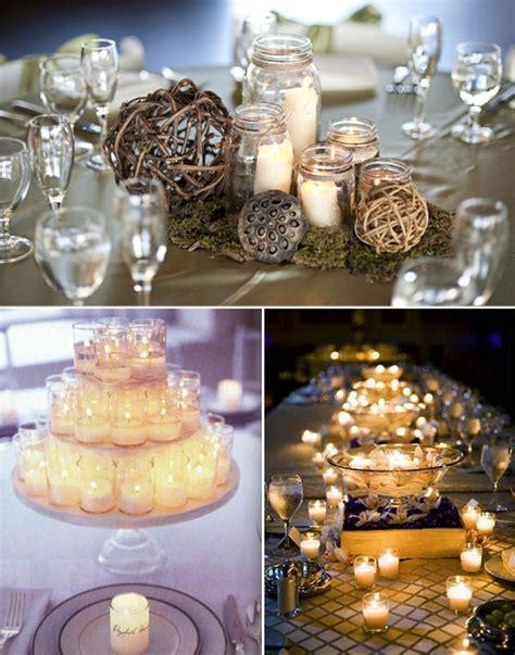 candele centrotavola centrotavola green wedding