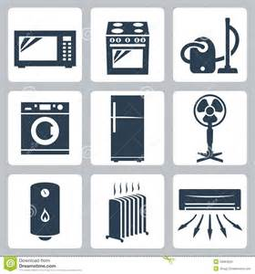 Kitchen Design App Free Vector Major Appliances Icons Set Stock Photography