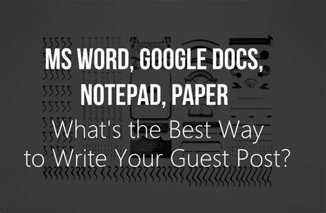 ms word docs notepad paper how to write your