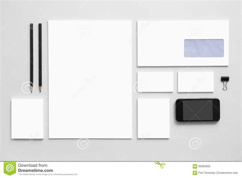 mock up business branding template on gray stock image