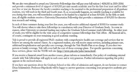 Cover Letter Exles Yale Application Form Application Letter Yale