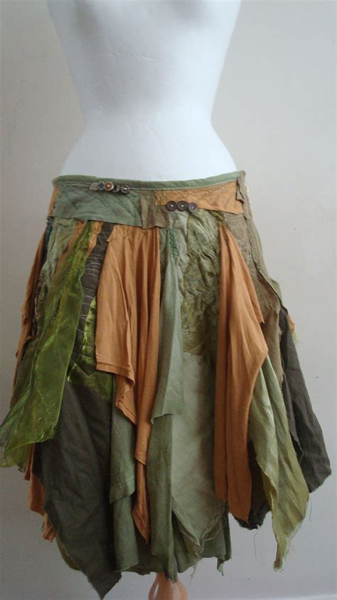 upcycled fashion diy upcycled skirt s clothing green brown by babayagafashion