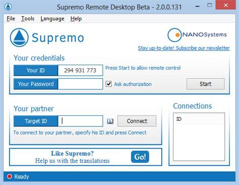 supremo remote software supremo remote desktop 3 4 0 freewarelinker