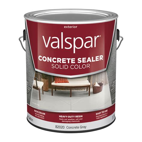 shop valspar 1 gallon solid color concrete sealer concrete gray at lowes