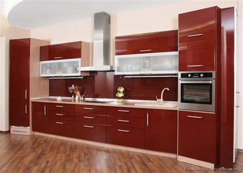 red kitchen cabinet top interior design red kitchen cabinets