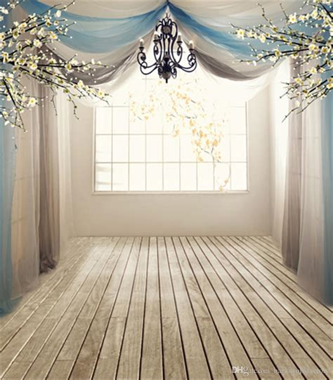 House Drapes 10x10ft Sunshine Lattice Window White Flowers Romantic