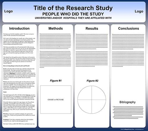 research paper presentation format free powerpoint scientific research poster templates for