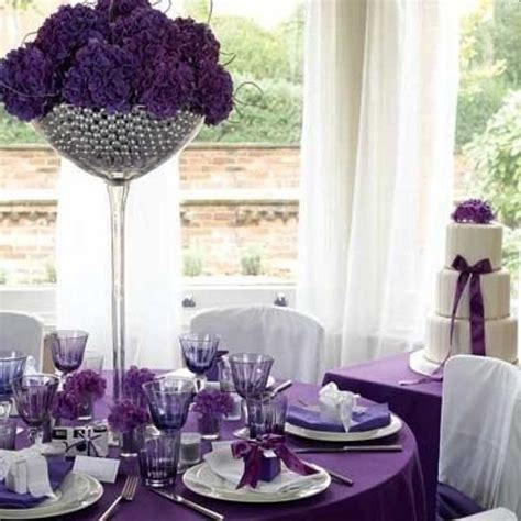Wedding Decoration Delectable Picture Of Purple Wedding Purple And Silver Wedding Centerpiece Ideas