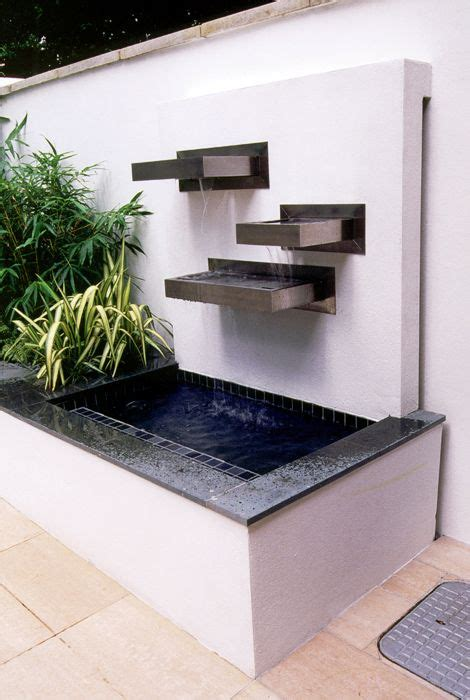 modern water features contemporary water feature paisajismo pinterest