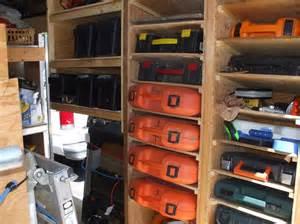 tool storage shelves contractor tool trailer setup trailer customizing ideas