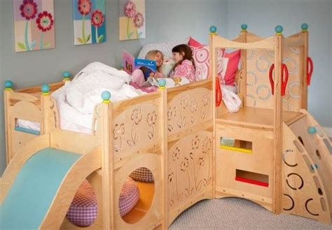 Loft Bed Jungle Gym Aden Pinterest Bunk Bed Slide Attachment