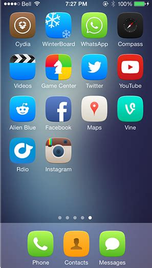 groovylock themes list the best winterboard themes for ios 7 mid year edition
