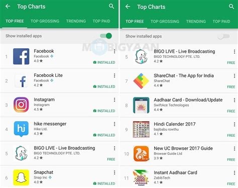 Play Store Installed Apps Starts Rolling Out Show Installed Apps Toggle In