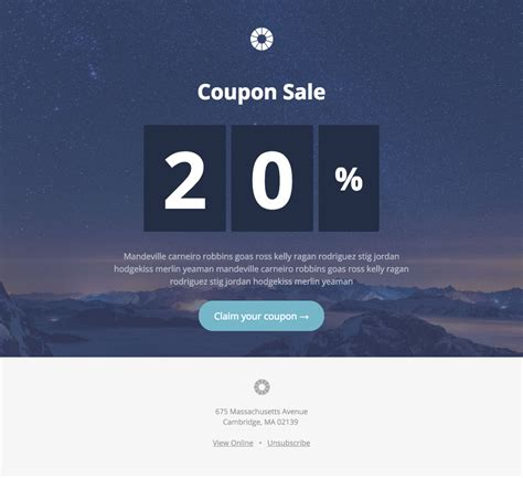 Pook Coupon Sale A Free Mautic Email Template Innotiom Mautic Email Templates