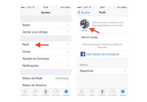 como mudar layout do iphone como trocar a foto de perfil do whatsapp no ios dicas e