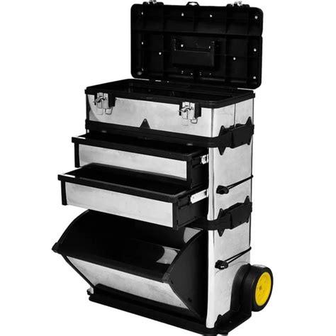 tool cabinets on wheels 3 part rolling tool box with 2 wheels www vidaxl com au