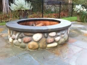 Rock Firepit Rock Pit Garden