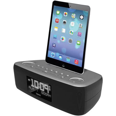 i home ihome idl44 fm clock radio with lightning dock and usb idl44gc