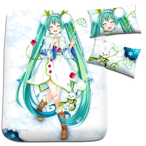 Kaos Anime Miku 01 aliexpress buy hobby express vocaloid miku hatsune japanese anime bed blanket or duvet