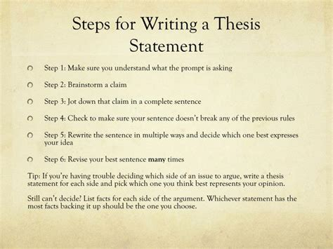 steps in writing a dissertation ppt writing a thesis statement powerpoint presentation