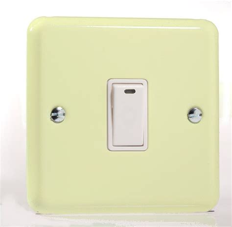 residential switch with light indicator white varilight pastel 1 gang 20a double pole rocker light