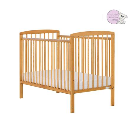 Cots With Mattress Included by Baby Elegance Starlight Cot In Pine With Mattress