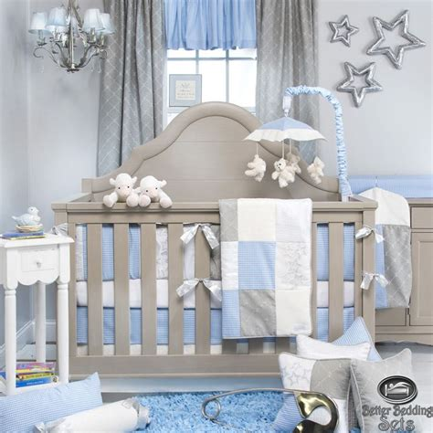 boy nursery bedding sets details about baby boy blue grey designer quilt luxury crib nursery newborn bedding set