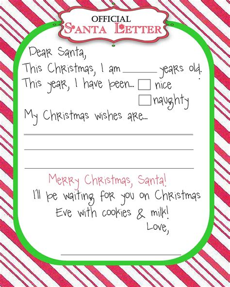 dear santa letter template images free printable dear santa letter templates hd writing co