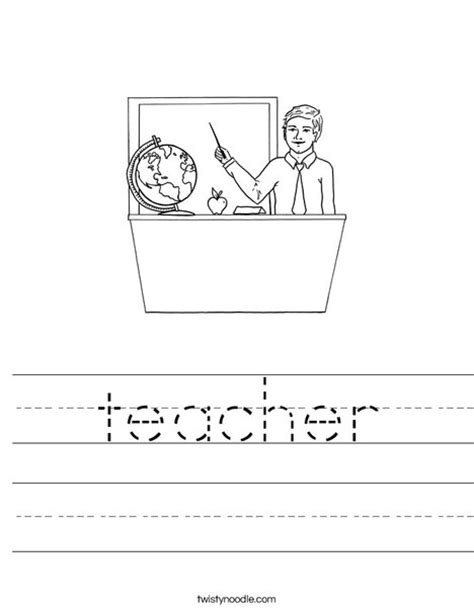 Teachers Worksheets by Worksheet Twisty Noodle