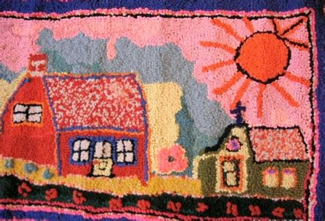 folk rug hooking just go hook it rug hooking folk hooked rug