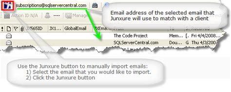 Could Not Find Address For Junxure Knowledge Base Article Add In Toolbar