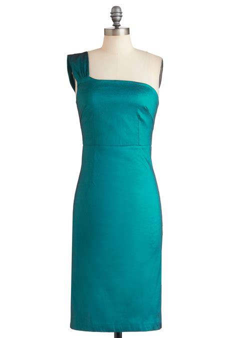 Dress Aquamarine aquamarine accolades dress mod retro vintage dresses